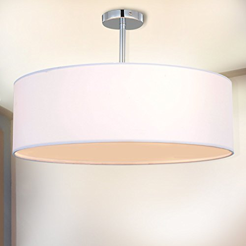 3 Light Pendant Drum Shade in US - 4