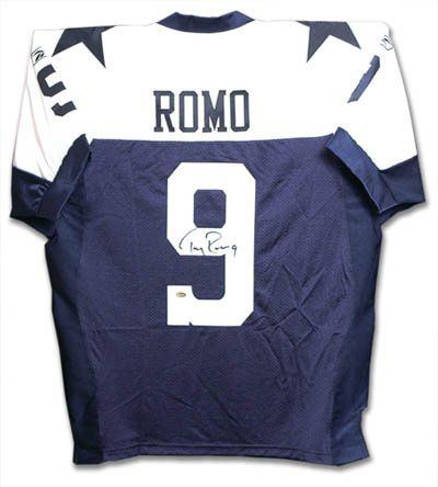 Tony Romo Back Jersey (Tony Romo Signed Cowboys Throwback Jersey-Official)