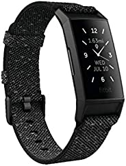 Fitbit FB417BKGY-FRCJK Charge 4 fitness and Activity Tracker with Built-In Gps, Heart Rate, Black, One Size 0.