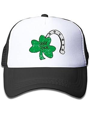 Good Luck ST. Patrick's Day Kids Baseball Cap Infant Trucker Hat