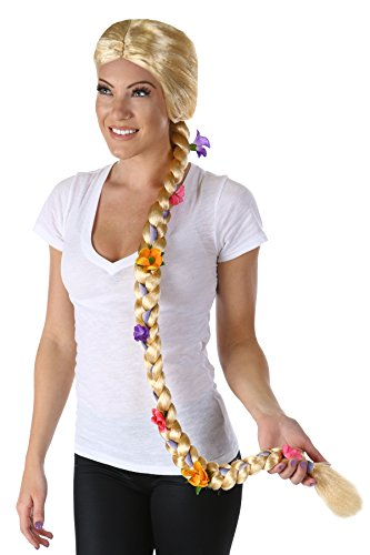 Womens Tangled Costumes (Princess Paradise Women's Flower Maiden Wig Deluxe Costume, Blonde, One Size)