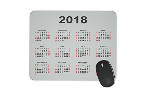 Calendar 2018 year Mouse pad Gaming Mouse pad Mousepad Nonslip Rubber Backing