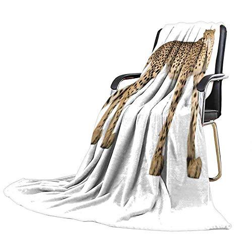 - Big datastore Blanket Cheetah acinonyx jubatus in Front of a White Background Plush Baby Blanket Size:60