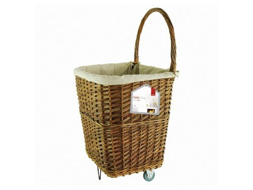 Natural Wicker Firelog Cart - Large by Deville price