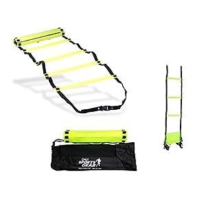 Onlysportsgear OSG 10 Rung Speed Agility Ladder Soccer Football Fitness Feet Training 4 Meter