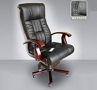 Chefsessel holz  Leder Chefsessel Massagesessel Direktorensessel Bürosessel