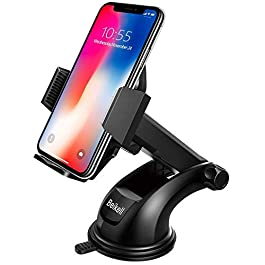 Beikell Adjustable Car Phone Holder Mount Cradle for Car with One Button Release and Strong Sticky Gel Pad