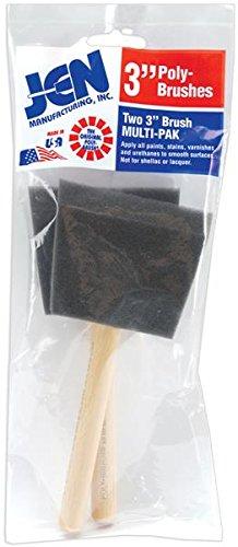 Janlynn 003 Poly-Sponge Brush, 3-Inch, 2-Pack JEN Manufacturing