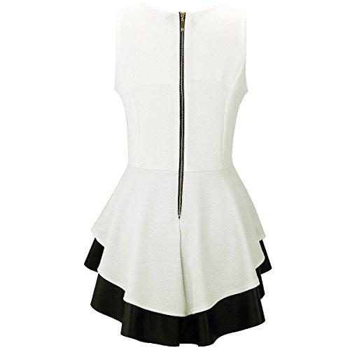 Nero Bianco Maniche Senza Laeticia Camicia Dreams Donna Ywq1tXzx