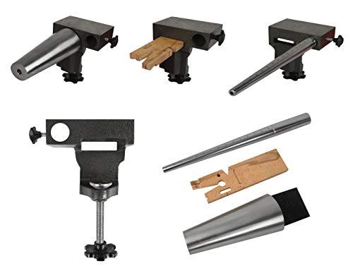 4-Piece Bench Anvil Combination V-Slot Bench Pin Ring Oval Bracelet Mandrel Vise Jewelry Making Metal Forming Kit