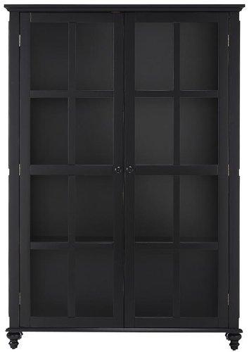 Amazon Shutter Glass Door Bookcase Glass Doors Worn Black