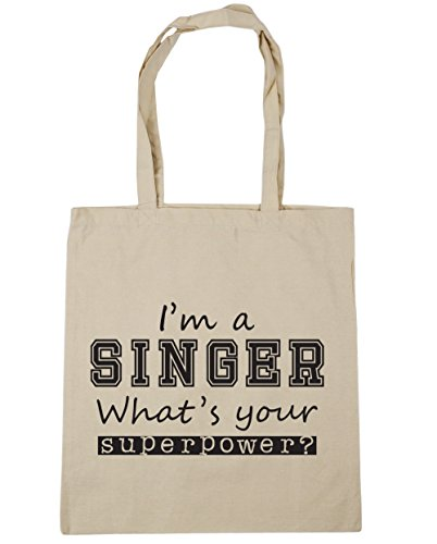 litres Bag a Gym Tote Your Beach Shopping I'm 10 x38cm HippoWarehouse Singer What's Natural 42cm Superpower An5Hvw5q6x