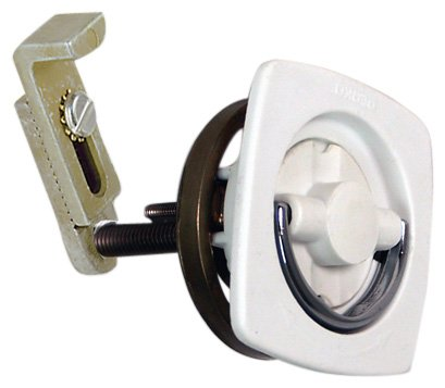 Perko 0932DP1WHT Flush Mount Latch - White