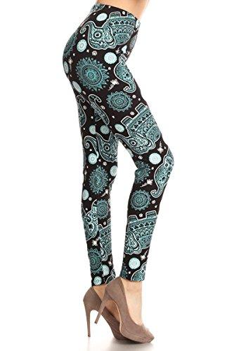 R863-EXTRAPLUS Elephant Jade Print Fashion Leggings]()