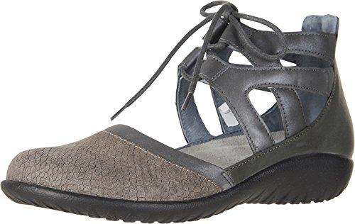 NAOT Women's Lace-up Kata Shoe Gray Nubuck Combo 9 M US