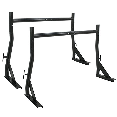 ZENY Set of 2 Bars Truck Ladder Rack 500LB Adjustable Utility Pick-Up Truck Rack