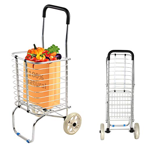 - KARMAS PRODUCT Superlight Folding Shopping Cart Trolley Truck with 2 Wheels