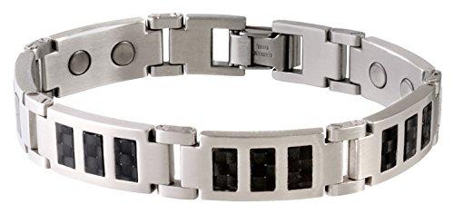 Sabona Black Carbon Fiber Stainless Magnetic Bracelet - X-Large (Carbon Fiber Stainless Magnetic Bracelet)