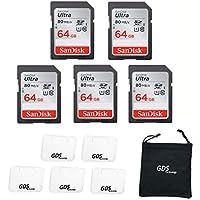 5X Genuine SanDisk Ultra 64GB Class 10 SDHC Flash Memory...