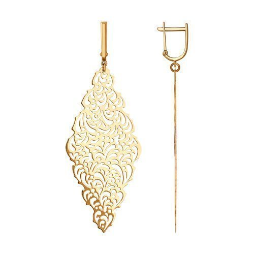Sokolov Jewelry - Boucles d'oreilles pendantes en or rose 14k