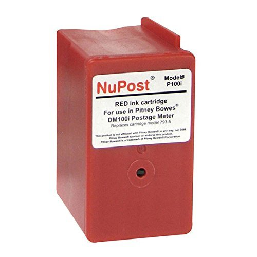 (Nupost Pitney Bowes Postage Meter Dm100i/Dm200l/P700 Red Ink Cartridge 3000 Yield)