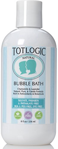 TotLogic Sulfate Free Bubble Bath - 8 oz, Original Scent, Gentle & Hypoallergenic, Rich in Antioxidants & Botanicals, No Parabens, No Phthalates, No Sulfates by TotLogic
