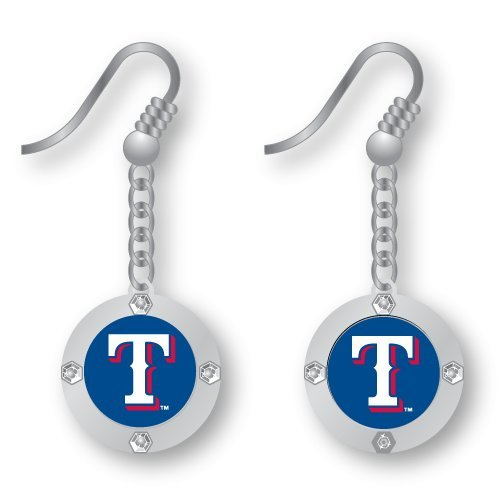 - RANGERS ROUND CRYSTAL DANGLER EARRINGS
