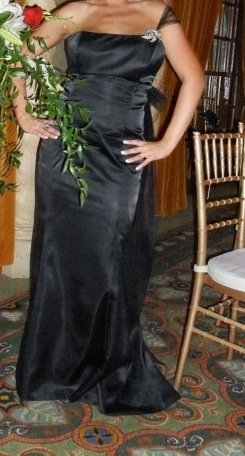 davids-bridal-brides-maid-dress-balck-size-11