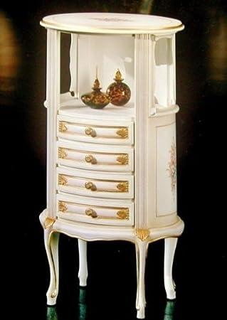 Louisxv Barock Telefon Kommode In Altweiss Venetian Barock Vp5211