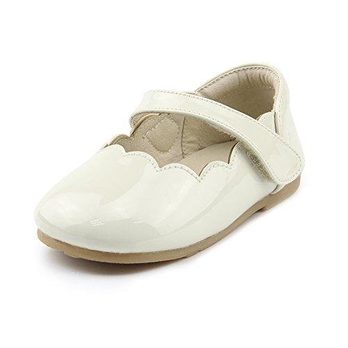 Chiximaxu Little Girl's Casual Ballerina Round Toe Flat Shoes,Beige Toddler 6.5M