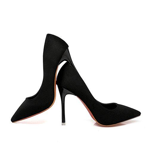 Para Mujer Cerrados Adeesu Negro Zapatos 7qURRwBE