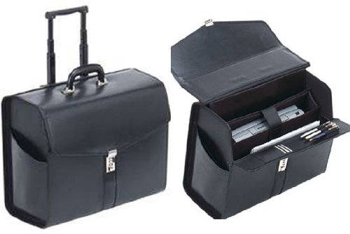 Leather Rolling Black Lawyer/litigation Briefcase, Bags Central