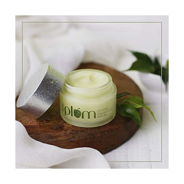 Plum Green Tea Renewed Clarity Night Gel   Normal, Oily, Acne-Prone, Combination Skin   Night Cream For Women… 2021 June GREEN TEA RENEWED CLARITY NIGHT GEL FOR WOMEN that suits best for oily, acne-prone skin RICH IN ANTIOXIDANT GREEN TEA EXTRACTS that will help in clearing out acne and acne marks leaving behind brighter, glowing skin! ARGAN OIL EXTRACTS that provide balanced hydration and helps your skin retain moisture overnight
