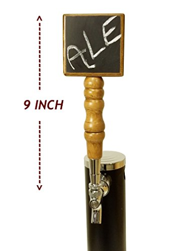 CHALKBOARD BEER TAP HANDLE - NATURAL PREMIUM BEECH AND SCHIMA SUPERBA WOOD (CHERRY STAIN) - EXTRA-LONG 9-INCH BEER FAUCET HANDLE FOR BEER TOWER TAPS - BEERGON (1-PACK) by BEERGON (Image #1)