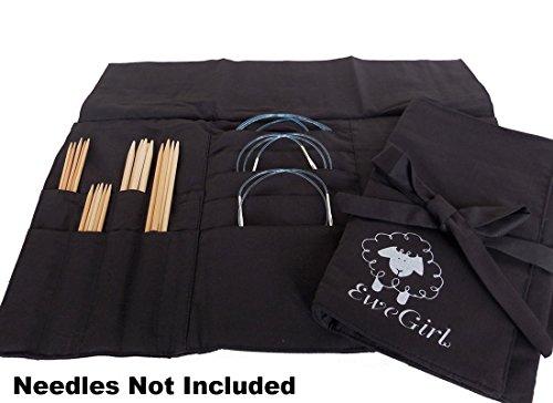 EweGirl by della Q Circular and DPN Needle Case (13.75 in. H x 16.5 in. W); 100 Black EG-2010-100 by della Q