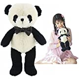 "HWD 16"" Soft Plush Bow Tie Panda Toy Doll . Stuffed Plush Animal Toys"