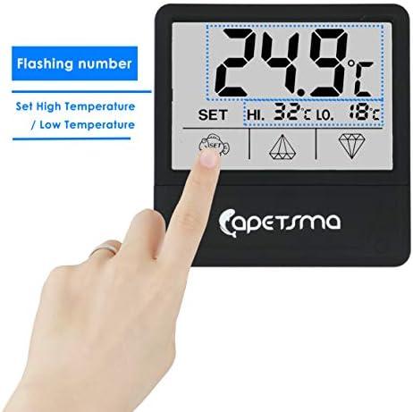 Mini Termómetro digital para acuario pantalla táctil 5