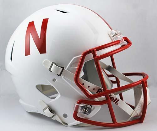 Riddell NCAA Nebraska Cornhuskers Full Size Speed Replica Helmet, Red, Medium