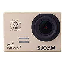SJCAM SJ5000 Plus Wifi Ambarella A7LS75 1080P 60FPS WiFi Built-in 1.5'' LCD 16MP 170° Wide Angle Sport Action Camera Waterproof Cam HD Camcorder Outdoor for Vehicle Diving Swimming (Gold)