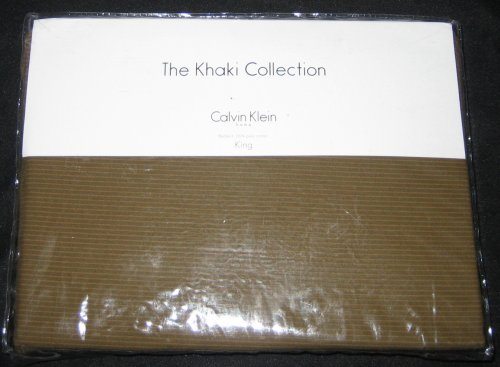 Calvin Klein King Cotton Bedskirt Deep Olive Color