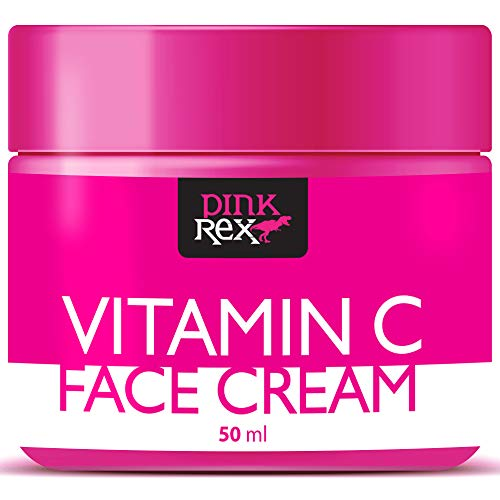 Vitamin C Face Cream Natural Hyaluronic Acid Organic Moisturizer for Skin Eye Neck Care Anti Aging and a Dark Spot Remover Simple Beauty Oil Corrector Tanning Lotion Firming Products Facial ()