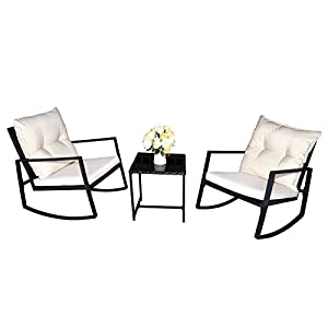 41bvl7qlV7L._SS300_ 100+ Black Wicker Patio Furniture Sets For 2020