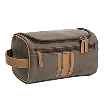 Amazon.com   Vancase Toiletry Bag for Men Vintage Leather Dopp Kit Hanging  Shaving Bag Portable Bathroom Shower Organizer for Travel Accessories  (Brown)   ... d359898727f2f