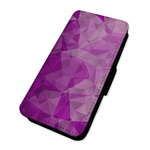 Grazioso motivo geometrico–Custodia ad aletta in pelle copertura di carta Apple Iphone 8