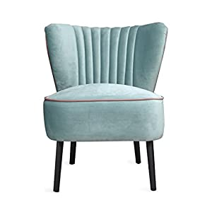 Lula Accent Chair, Velvet Cocktail Chair, Mid Century Modern Armchair,  Living Room Furniture, Mint