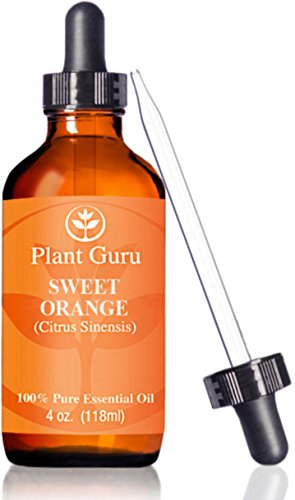 ★ Sweet Orange Essential Oil ★HUGE 4 oz ★ Therapeutic Grade ★ 100% Pure & Natural ★ With Glass Dropper (Sweet Orange Essential Oil compare prices)