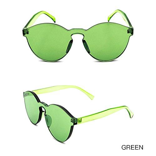 De Transparentes Las Vintage Gafas Transparente Sol De Gafas TIANLIANG04 Mujeres Color De Chica Gafas GREEN Sin Sol Bastidor De De aw60Yq