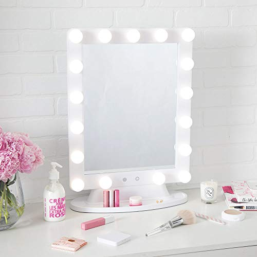 Thinkspace Beauty Extra Large Lighted Makeup Vanity Mirror, LED Bulb Lights