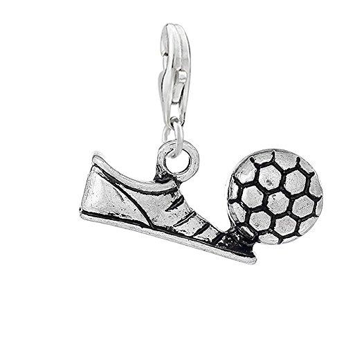 Chaussures de femme paillettes Sexy avec Soccer, Football Clip sur pendentif Charm pour bracelet ou collier