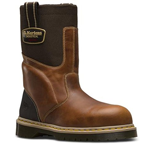 Dr. Martens Unisex HOWK Electrical Hazard ST Rigger Boots, Brown Leather, 9 M UK, M10/W11 M - To Shopping Uk From Usa
